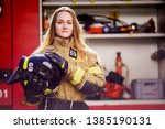 Photo Of Woman Firefighter With ...