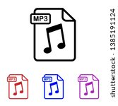 mp3 file icon  flat icon ... | Shutterstock .eps vector #1385191124