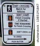 crosswalk sign with... | Shutterstock . vector #1385191847
