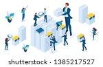 isometric set of business...   Shutterstock .eps vector #1385217527