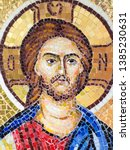 Small photo of Ramnicu Valcea/Romania - May 28 2015: Orthodox mosaic icon at Archdiocese of Ramnic. This is a Romanian Orthodox archdiocese based in Ramnicu Valcea