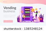 tiny people consumers buying... | Shutterstock .eps vector #1385248124