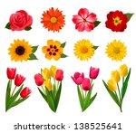 Set Of Beautiful Flowers....