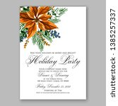 winter floral christmas party... | Shutterstock .eps vector #1385257337