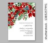 poinsettia christmas party...   Shutterstock .eps vector #1385257991