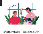 medical tests illustration  ... | Shutterstock .eps vector #1385265644
