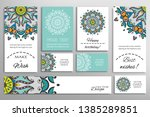 big set of greeting cards or... | Shutterstock .eps vector #1385289851