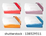 collection of cardboard paper... | Shutterstock .eps vector #138529511