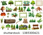set of ornamental plants...   Shutterstock .eps vector #1385300621