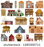 set of different house... | Shutterstock .eps vector #1385300711