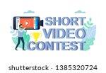 mobile short video contest... | Shutterstock .eps vector #1385320724