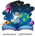 pop up book space scene... | Shutterstock .eps vector #1385324651