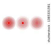 red ring icon vector logo...   Shutterstock .eps vector #1385331581