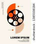 movie and film poster modern... | Shutterstock .eps vector #1385338184