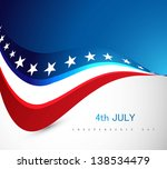 american flag 4th july... | Shutterstock .eps vector #138534479