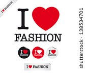 I Love Fashion  Font Type With...