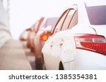 full parking. aerial car... | Shutterstock . vector #1385354381