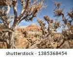landscape of bizarre layered... | Shutterstock . vector #1385368454
