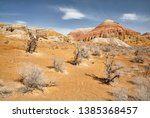 landscape of bizarre layered... | Shutterstock . vector #1385368457