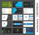 set of creative business cards... | Shutterstock .eps vector #1385398244