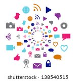 social technology and media... | Shutterstock . vector #138540515
