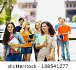 group happy student with... | Shutterstock . vector #138541277
