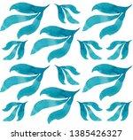 pattern of hand drawn blue...   Shutterstock . vector #1385426327