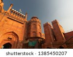 red fort is a historic fort in...   Shutterstock . vector #1385450207