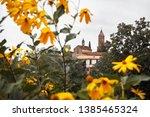 old traditional church framed... | Shutterstock . vector #1385465324