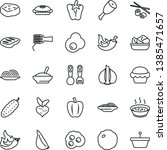 thin line vector icon set  ... | Shutterstock .eps vector #1385471657