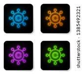 glowing neon copywriting... | Shutterstock .eps vector #1385492321
