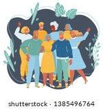 vector cartoon illustration of... | Shutterstock .eps vector #1385496764