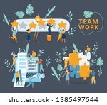 vector illustration of concept... | Shutterstock .eps vector #1385497544