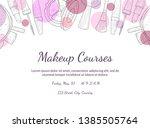 makeup courses banner template...   Shutterstock .eps vector #1385505764