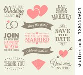 a set of wedding design... | Shutterstock .eps vector #138550601