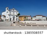 Small photo of PALMANOVA ITALY ON SUMMER: Palmanova, with its nine-pointed star structure, was conceived as an inexpugnable defensive system Italy, Udine Friuli-Venezia-Giulia region. The cathedral.