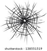 vector background of cracked ...   Shutterstock .eps vector #138551519
