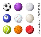 balls set vector illustration.... | Shutterstock .eps vector #1385519681