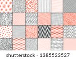abstract hand drawn geometric... | Shutterstock .eps vector #1385523527