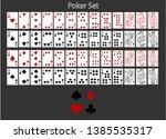 vector playing cards. original... | Shutterstock .eps vector #1385535317