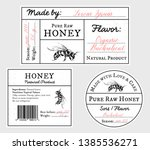set of vector card templates... | Shutterstock .eps vector #1385536271