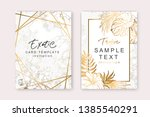 set of elegant brochure  card ... | Shutterstock .eps vector #1385540291
