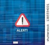 attention warning attacker... | Shutterstock .eps vector #1385554031