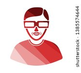 man with 3d glasses icon. flat...