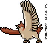 Vector Pixel Art Sparrow Actio...