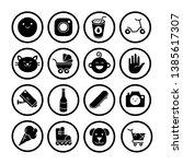 vector icons of interdiction ... | Shutterstock .eps vector #1385617307