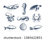 underwater world vector icon... | Shutterstock .eps vector #1385622851