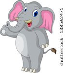 cute elephant cartoon | Shutterstock . vector #138562475