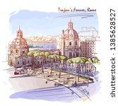 forum of the emperor trajan in... | Shutterstock .eps vector #1385628527