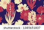 floral seamless pattern ... | Shutterstock .eps vector #1385651837